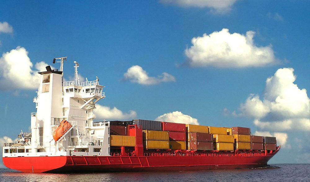 barco container exportacion materia prima